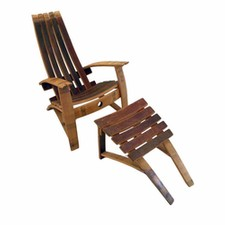 Adirondack Chair & Footstool